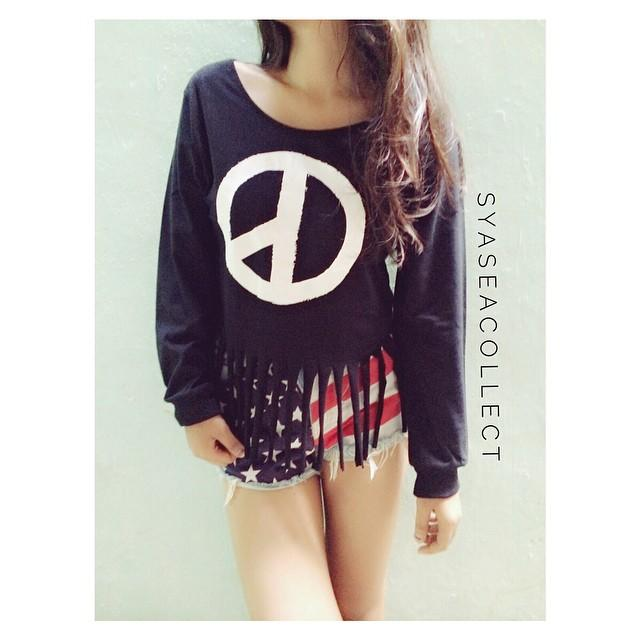 Longsleeves CROP: Half Peace 🎀