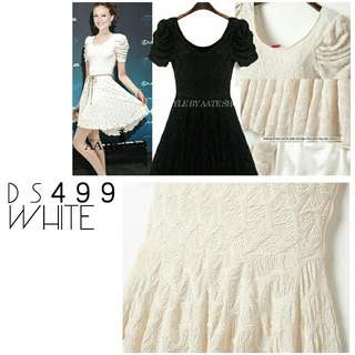 White Bubble Dress Ds499