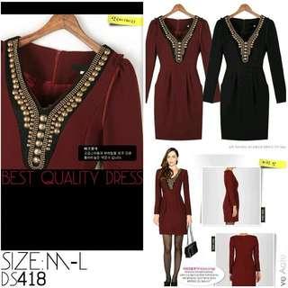 Red Premium dress ds418