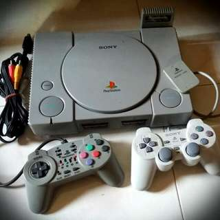 Vintage Retro Ps1 Playstation 1 Set