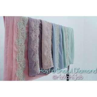 Hayfa shawl diamond
