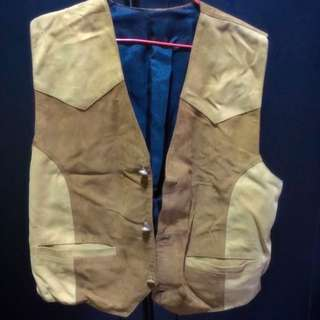 Genuine (full) Leather Vest from Nepal