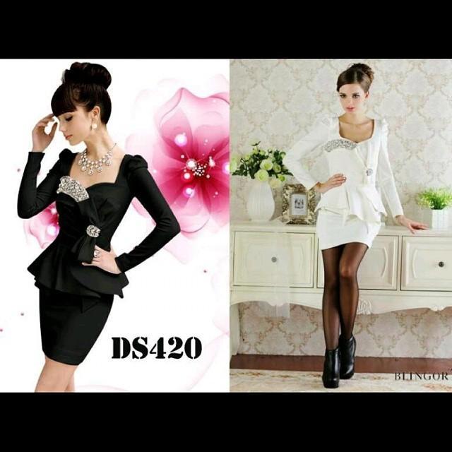 Premium White Formal Dress ds420