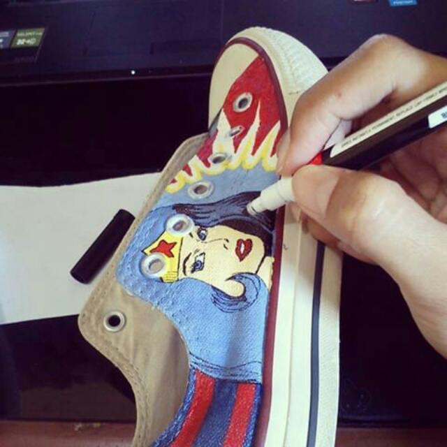 Sepatu Lukis (Custom) 286abf807a
