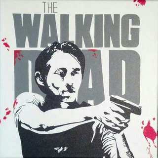 The Walking Dead Glenn Painting
