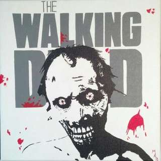 The Walking Dead Zombie Painting