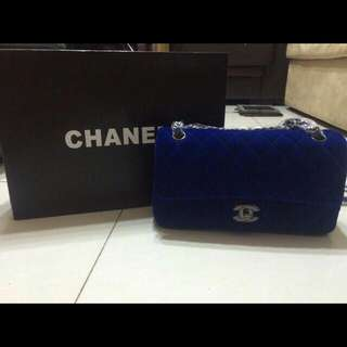 Chanel Medium 2.55 Double Flap In Blue Colour .