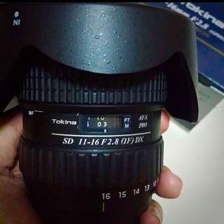 Tokina 11-16mm f 2.8 - Nikon Mount
