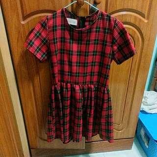 Checkered Dress /babydoll Dress