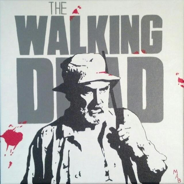 The Walking Dead Dale Painting