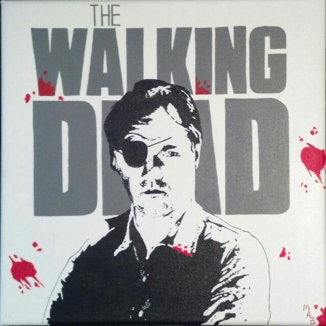 The Walking Dead Governor Painting