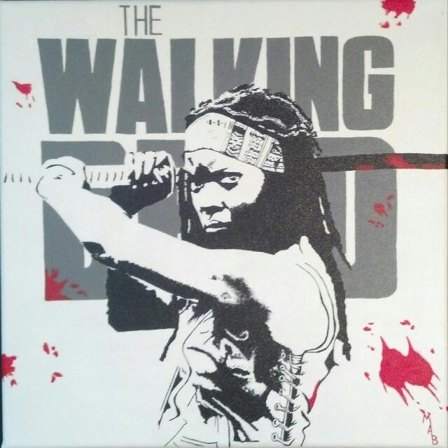 The Walking Dead Michonne Painting