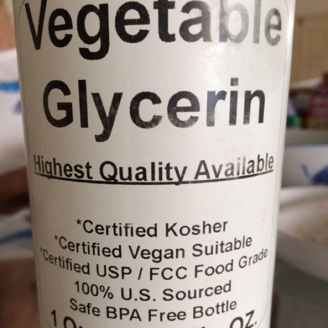 Vegetable Glycerin (kosher Certified), Design & Craft on