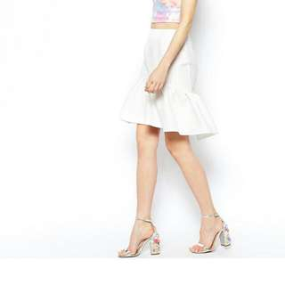White Jaguard Skirt