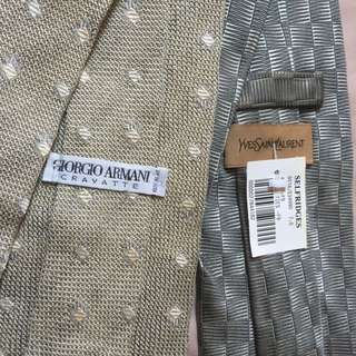 Yves Saint Lauren Tie & Armani
