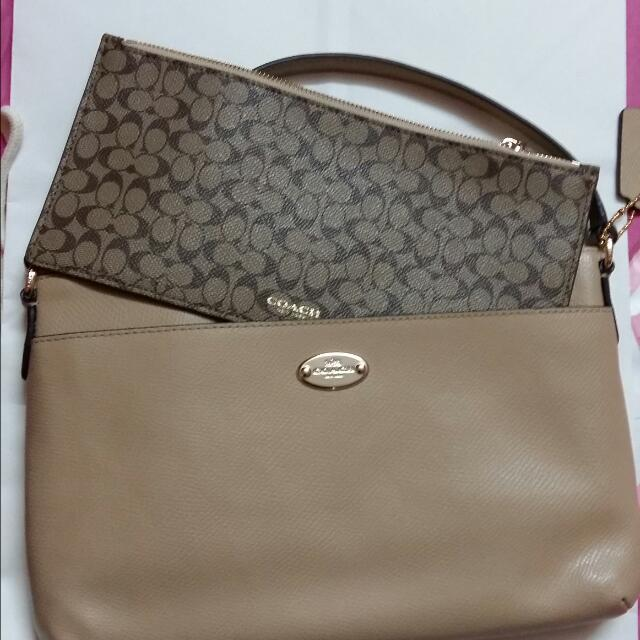d0085e4d91 ... get authentic bn coach sling bag with slim pouch from canada luxury on  carousell 27e74 68e96