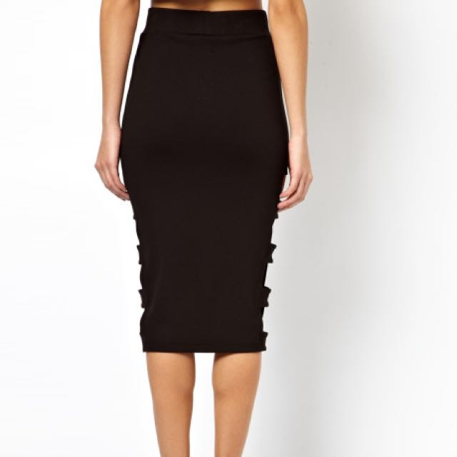 d26c4706f9cd Asos Pencil Skirt With Slash Sides, Women's Fashion on Carousell