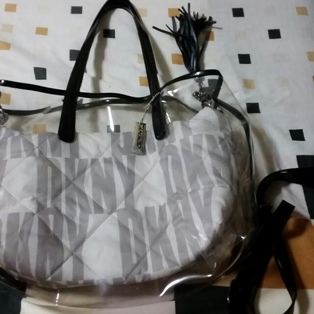 Authentic DKNY bag with sling