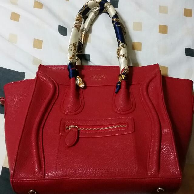 Celine Red Micro Inspired