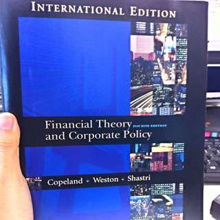 Financial Theory & Corporate Policy by Copeland, Weston and Shastri