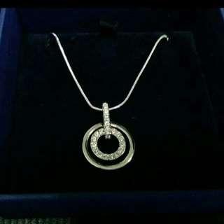 Swaroski Crystal Circle Pendant Necklace