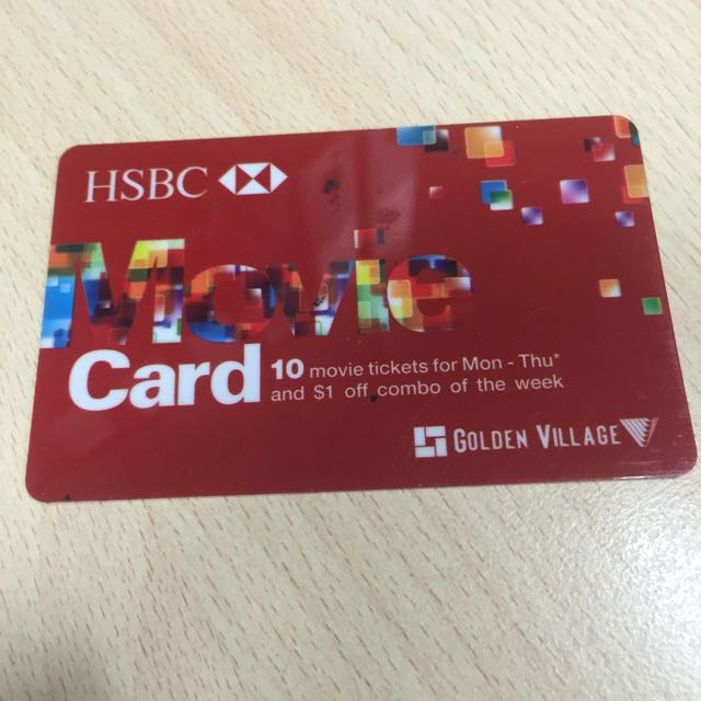 HSBC GV Weekday Prepaid Card, Entertainment on Carousell