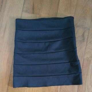 Black Bandaged Skirt