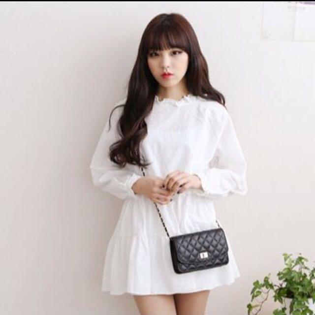 78d367aa9d INSTOCK White Cute Babydoll Dress