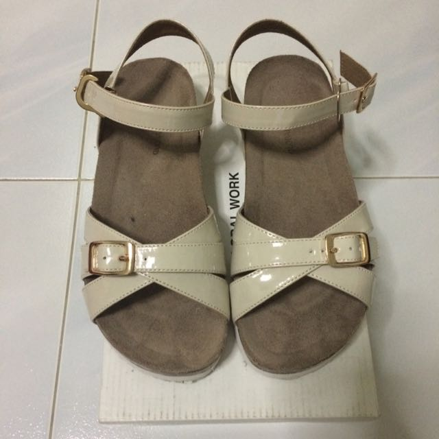Global Work Strappy Sandals