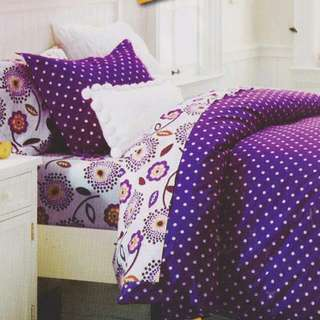 Sprei Ready Stock Sale Dotties Medeline Size 160 Queen Bahan Star Panca