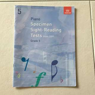 Grade 5 piano sight-reading