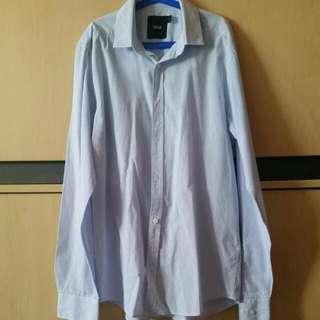 *PRICE REDUCED* Preloved Asos Blue Striped Work Shirt