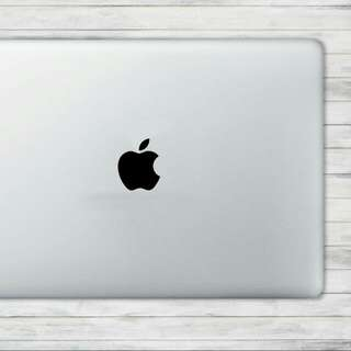 BLACK Opaque Apple: Vinyl Decal Clearance