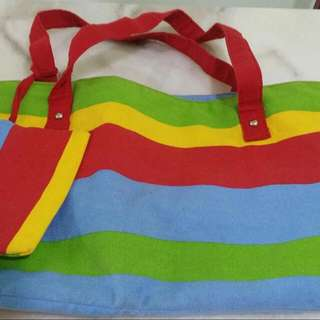 Colourful Rainbow Shoulder Bag