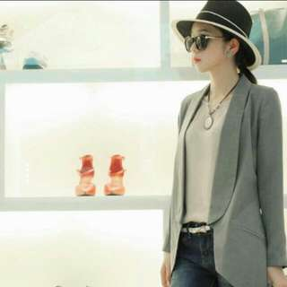 Korean Grey Blazer