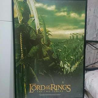 Lord Of The Rings The Two Towers Movie Framed Movie Poster