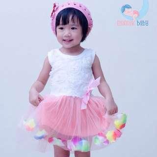 Baby Girl Summer Party Flower Dress (lightpink)