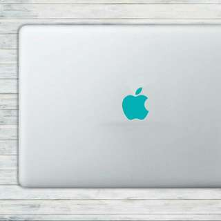 TURQUOISE Opaque Apple: Vinyl Decal Clearance.