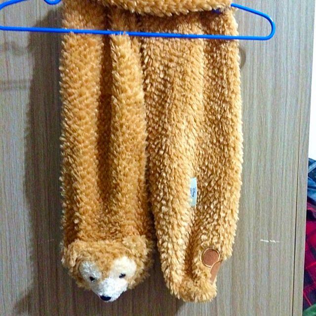 正版達菲熊圍巾