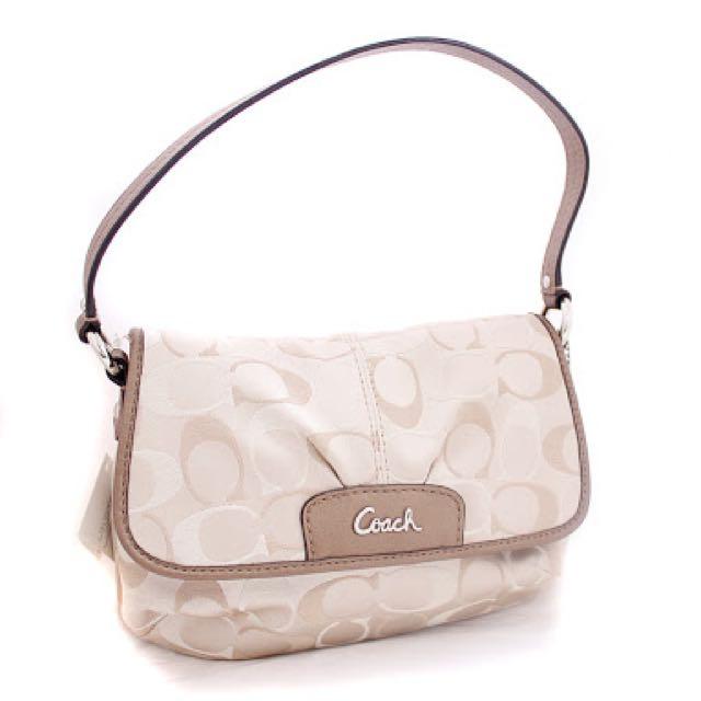 Coach Signature Ashley Flaptop Handbag