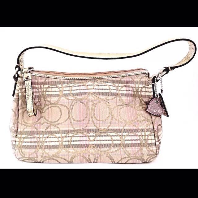 Coach Signature Tartan Plaid Handbag