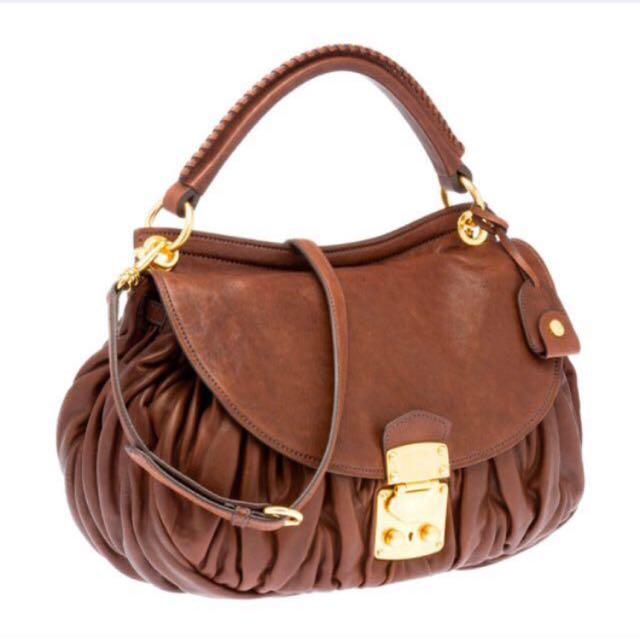 321ec9db1d3f SOLD Miu Miu Matelassé nappa leather flap bag