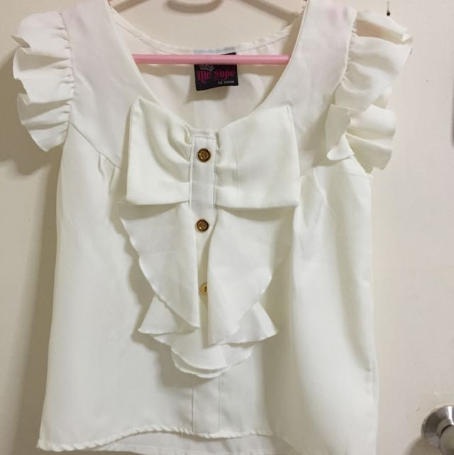 Mori Style White Blouse