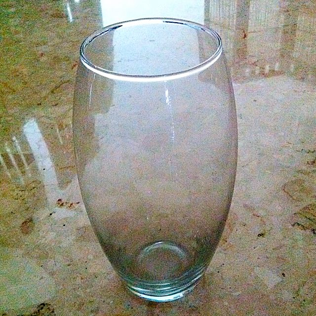 Oval-shaped Glass Vase