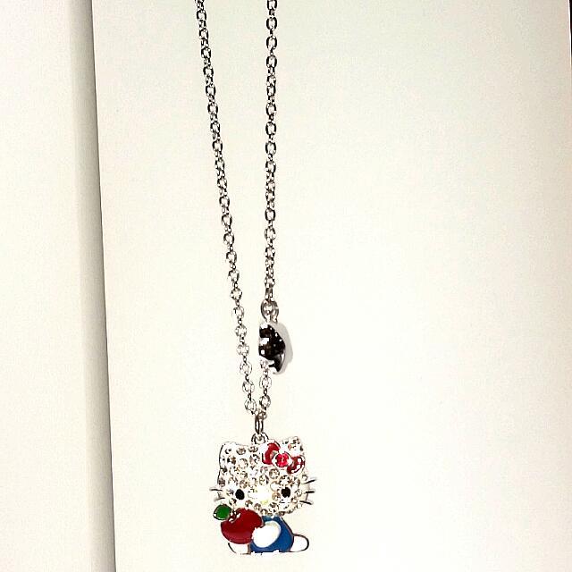 e363801d6 Authentic Swarovski Hello Kitty Red Apple Pendant 吉蒂猫- 红苹果全全链坠, Babies &  Kids on Carousell
