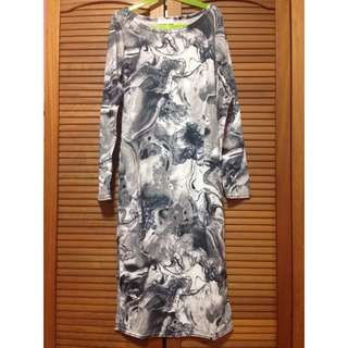 Long Sleeve Midi Dress (Reserved)
