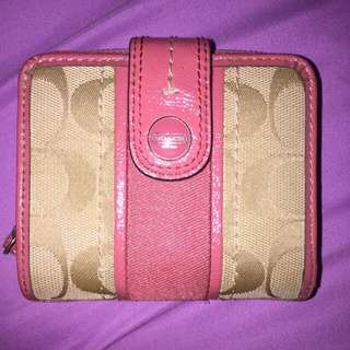INSTOCKS: QYOP Authentic Coach French Wallet