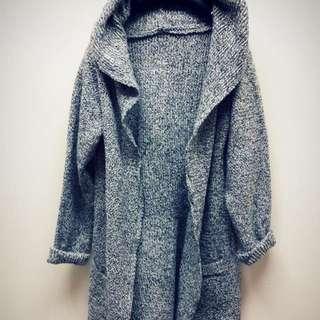 長版針織外套罩衫