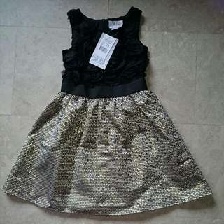 (SPECIAL OFFER) - BNWT - BLUSH BY US ANGELS - LACE AND BROCADE Party Dress - Size 7.