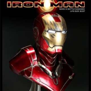 Sideshow Iron Man Life Bust (Battle Damaged)